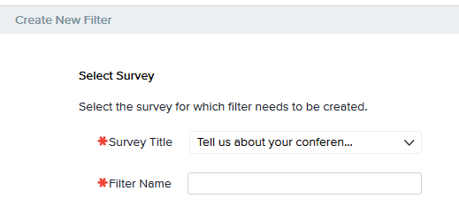 Survey Report Filter Manager