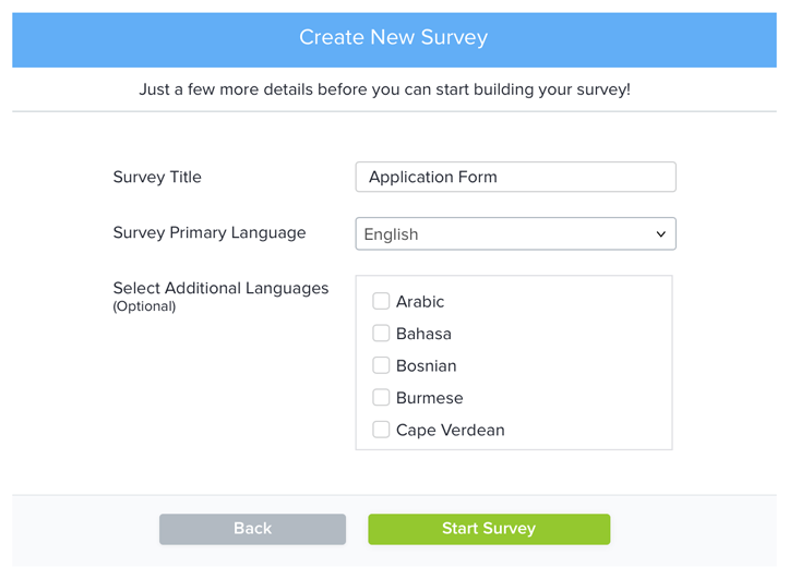 how to create an online survey