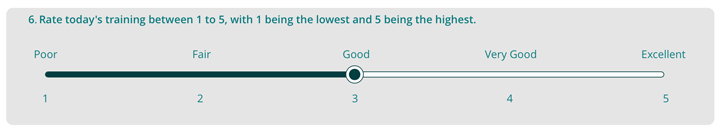 Rating scale numerical